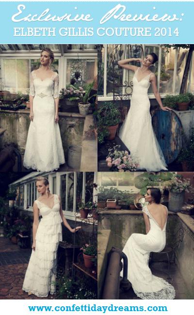 Elbeth Gillis Couture 2014 Wedding Dress Bridal Collection