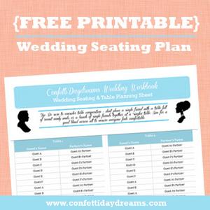 Wedding Seating Workbook Table Planner