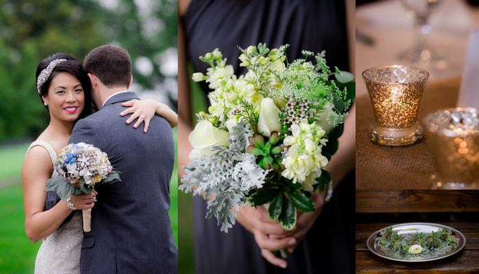 Charcoal & White Vintage Handmade Coal Valley Wedding