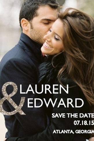 Glitter Wedding Save the Date