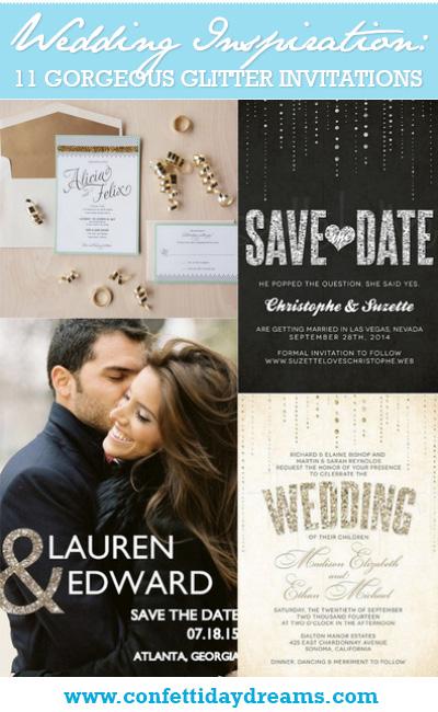 11 Gorgeous Glitter Wedding Invitations
