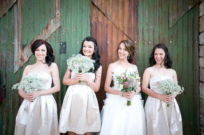 Babys Breath & Succulents - South African Farm Wedding