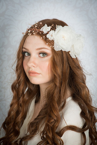 2014 Blair Nadeau Millinery Bridal Collection | Ginger Crystal Floral Crown