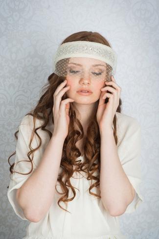 2014 Blair Nadeau Millinery Bridal Collection | Gatsby Crystal Headband Veil