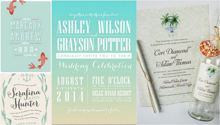 Beach Wedding Invitations {Trendy Tuesday}
