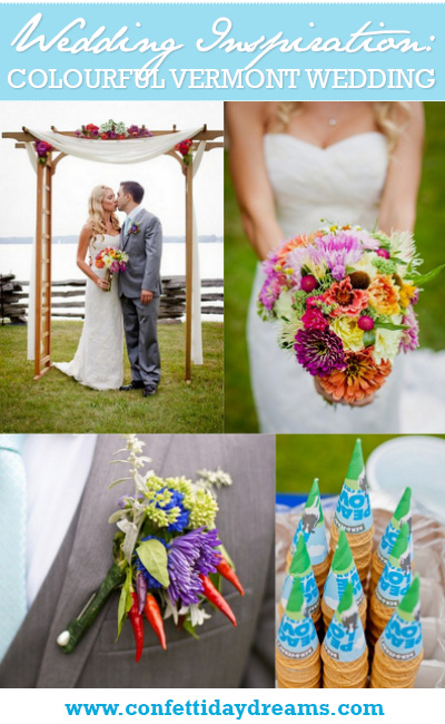 Colorful Vermont Real Wedding