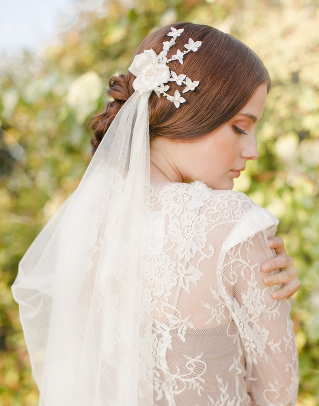 Jannie Baltzer 2014 Bridal Headpiece Collection | Ina Veil