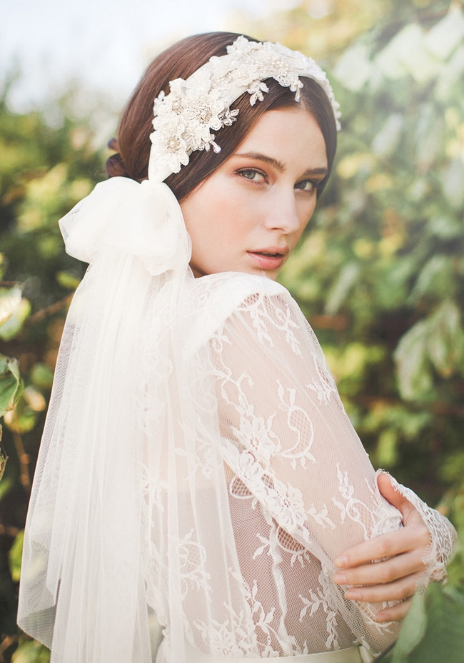 Jannie Baltzer 2014 Bridal Headpiece Collection | Samantha