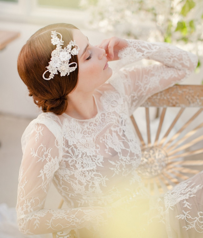Jannie Baltzer 2014 Bridal Headpiece Collection | Eva