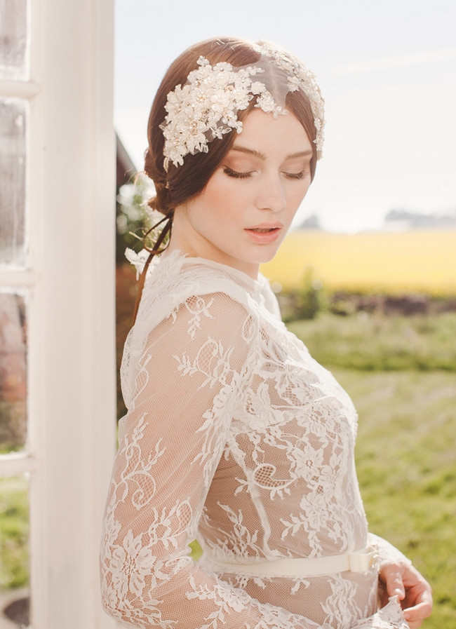 Jannie Baltzer 2014 Bridal Headpiece Collection | Ella