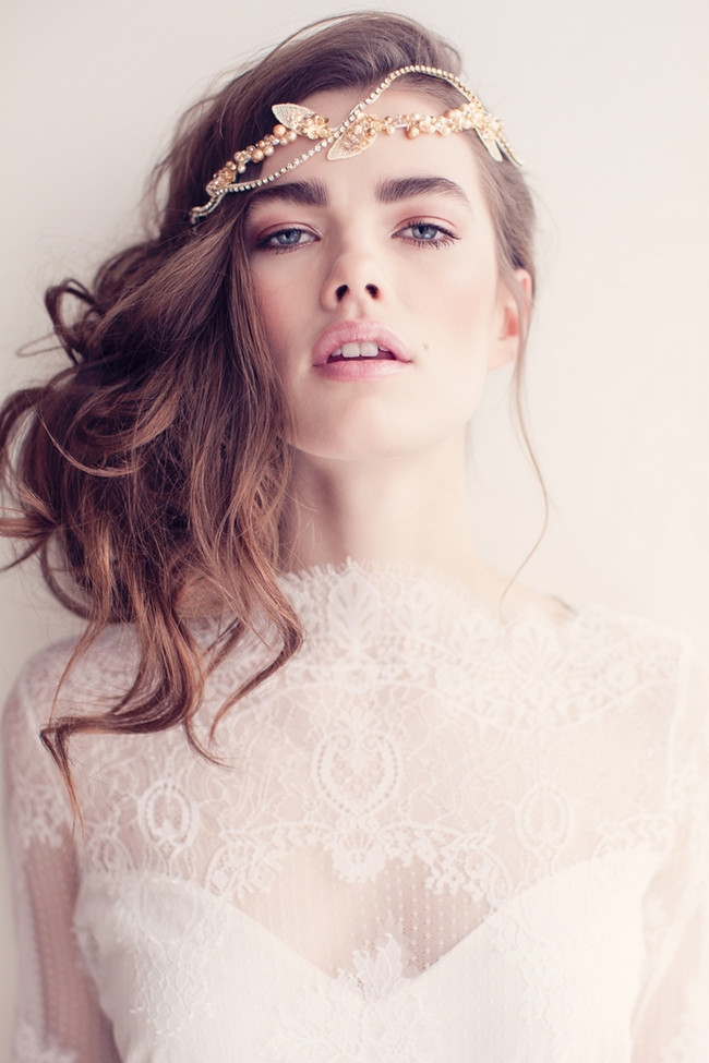 Jannie Baltzer 2014 Bridal Headpiece Collection | Carly Rose