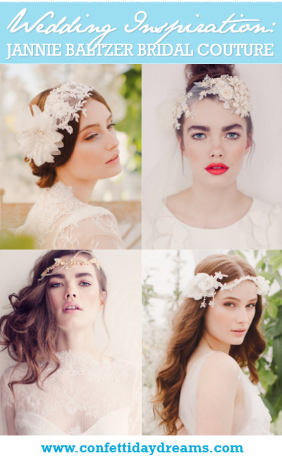 Jannie Baltzer 2014 Bridal Headpiece Collection