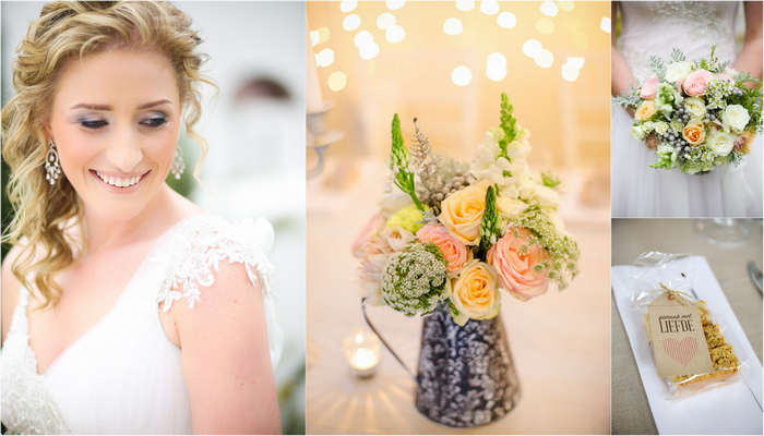 Vintage Peach and Mint Wedding, Wellington