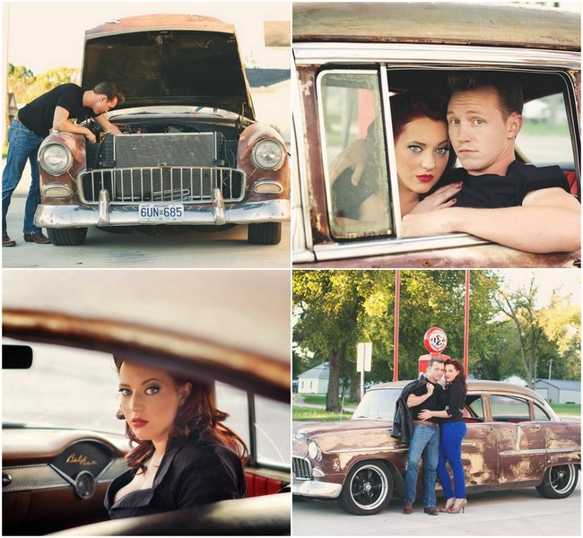 1950s Styled Engagement Shoot Neelys Photography. 1