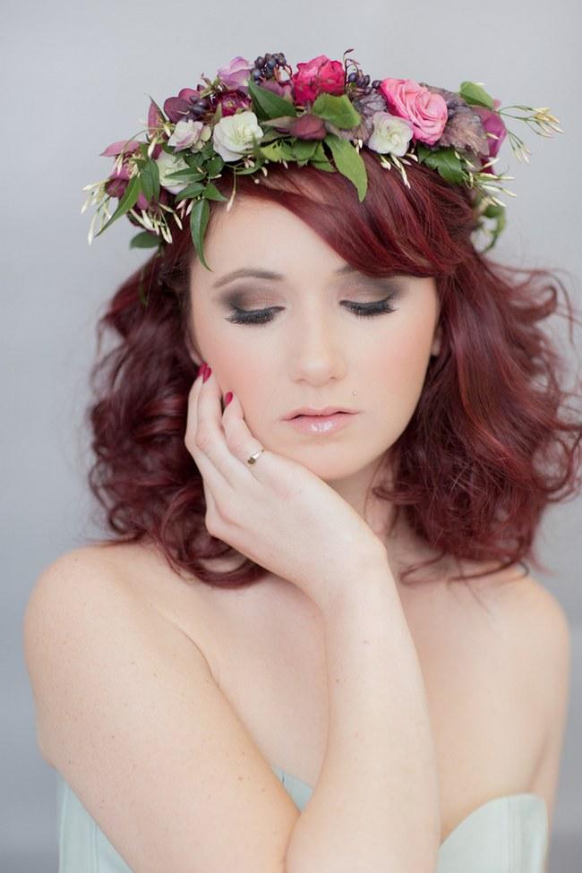 _Bohemian Bridesmaid Inspiration Powder Blue Flower Crown 003