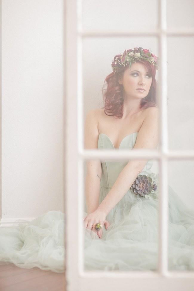 _Bohemian Bridesmaid Inspiration Powder Blue Flower Crown 013