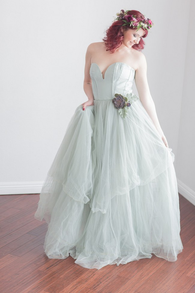 _Bohemian Bridesmaid Inspiration Powder Blue Flower Crown 022