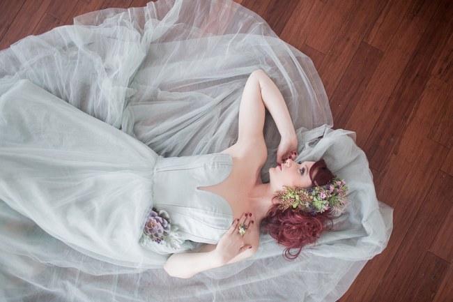 Bohemian Bridesmaid Inspiration Powder Blue Flower Crown 030