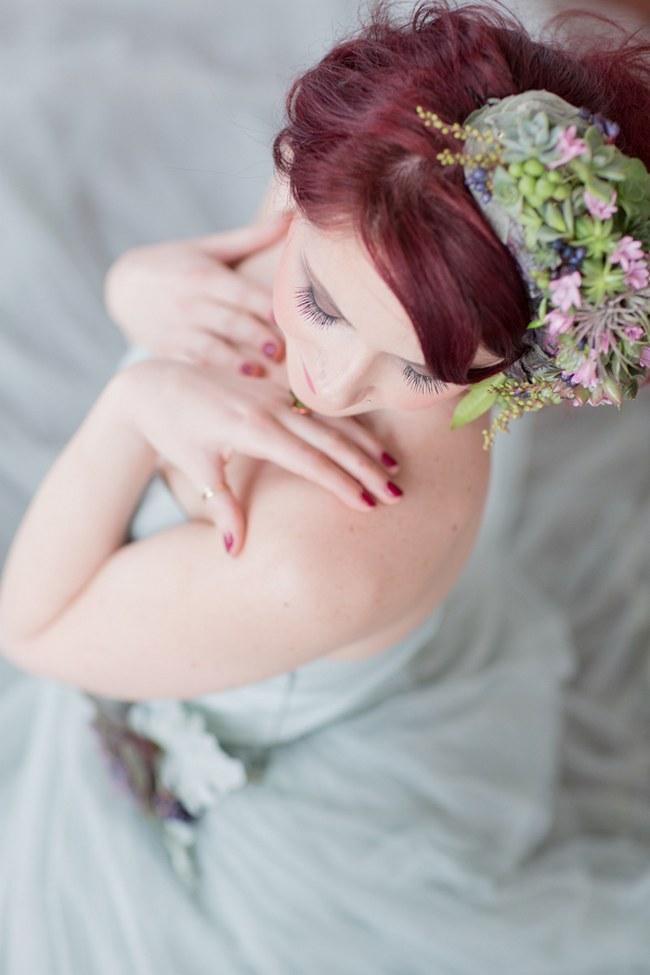 _Bohemian Bridesmaid Inspiration Powder Blue Flower Crown 031