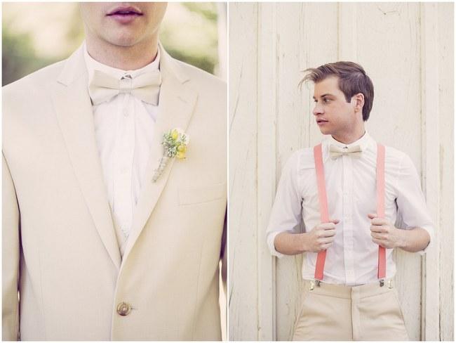 Peach Cream Rustic Country Ruffles & Lace Wedding  008