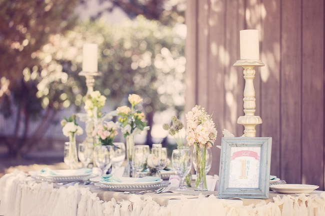 Peach Cream Rustic Country Ruffles & Lace Wedding 17