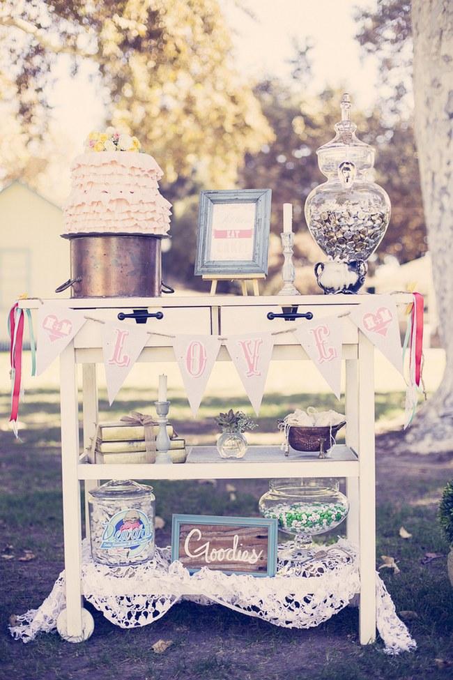 Peach Cream Rustic Country Ruffles & Lace Wedding 27