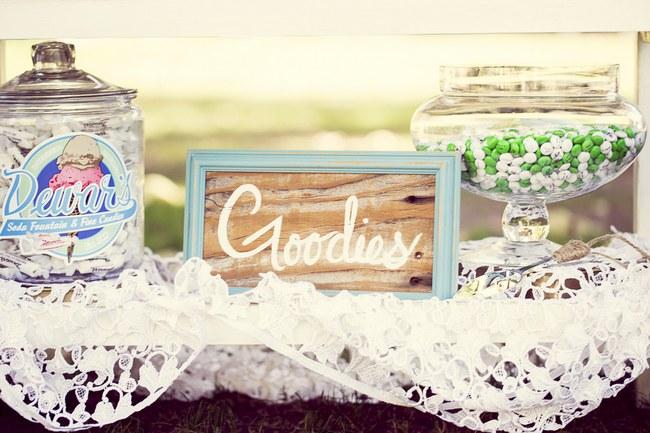Peach Cream Rustic Country Ruffles & Lace Wedding 29