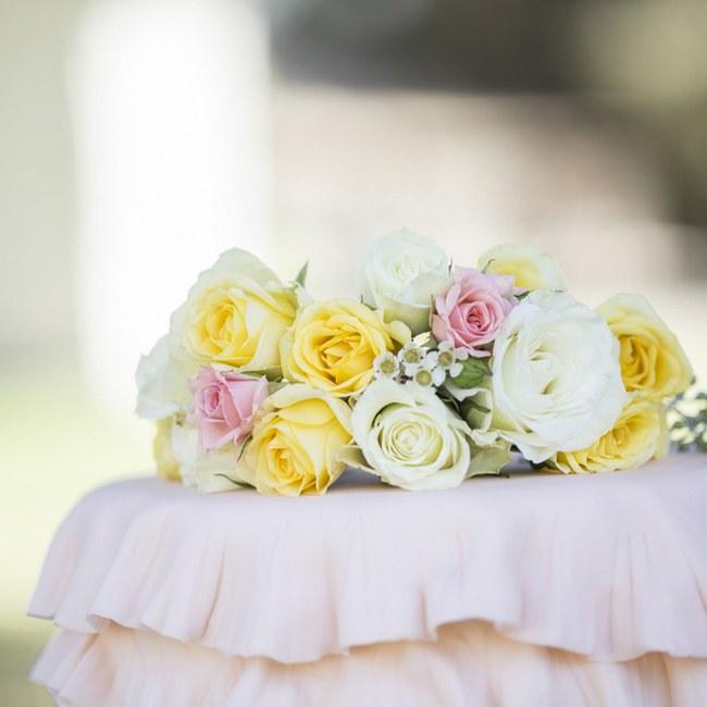 Peach Cream Rustic Country Ruffles & Lace Wedding 31