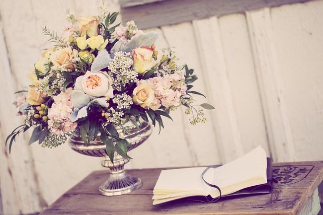 Peach Cream Rustic Country Ruffles & Lace Wedding 39