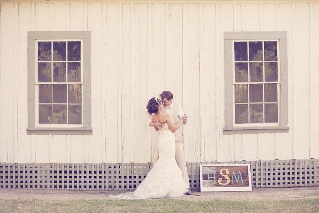 Peach Cream Rustic Country Ruffles & Lace Wedding 50