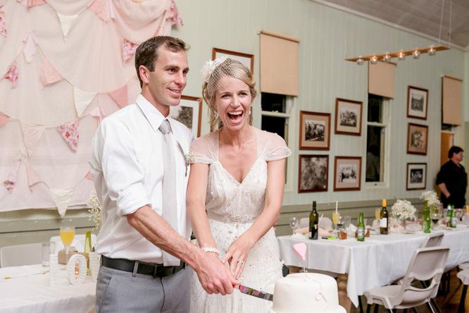 Shabby Chic Country Style Pink Wedding Australia Jani Montville Hall B Photography (30)