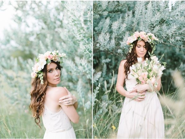 Bridal Crown and Floral Wreath