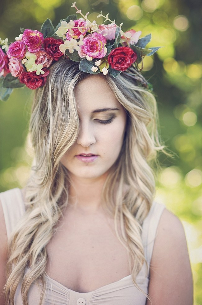 Flower Crowns Floral Wreath Bridal (20)