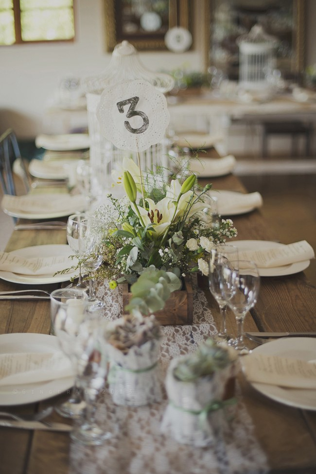 Powder Blue Lace Succulent Wedding Nutcracker Country Retreat 001