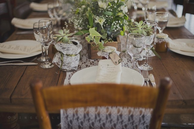 Powder Blue Lace Succulent Wedding Nutcracker Country Retreat 003