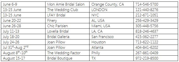 Berta Wedding Dresses - 2014 USA Trunk Shows