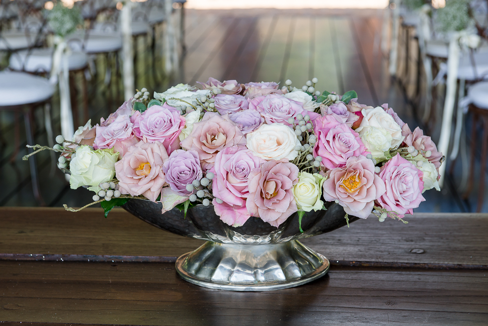 Gorgeous Floral Display  | Dusty Pink & Violet Wedding at the Red Ivory Lodge by Lightburst Photography - As seen on ConfettiDaydreams.com