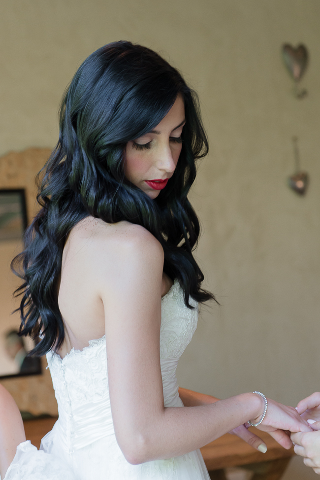 Long Wedding Hairstyle - Dusty Pink & Violet Wedding at the Red Ivory Lodge by Lightburst Photography - ConfettiDaydreams.com