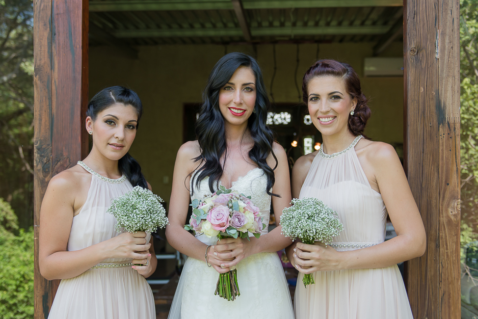 Dusty Pink & Violet Wedding Bouquet and babys breath bridesmaids bouquets | Red Ivory Lodge by Lightburst Photography - ConfettiDaydreams.com