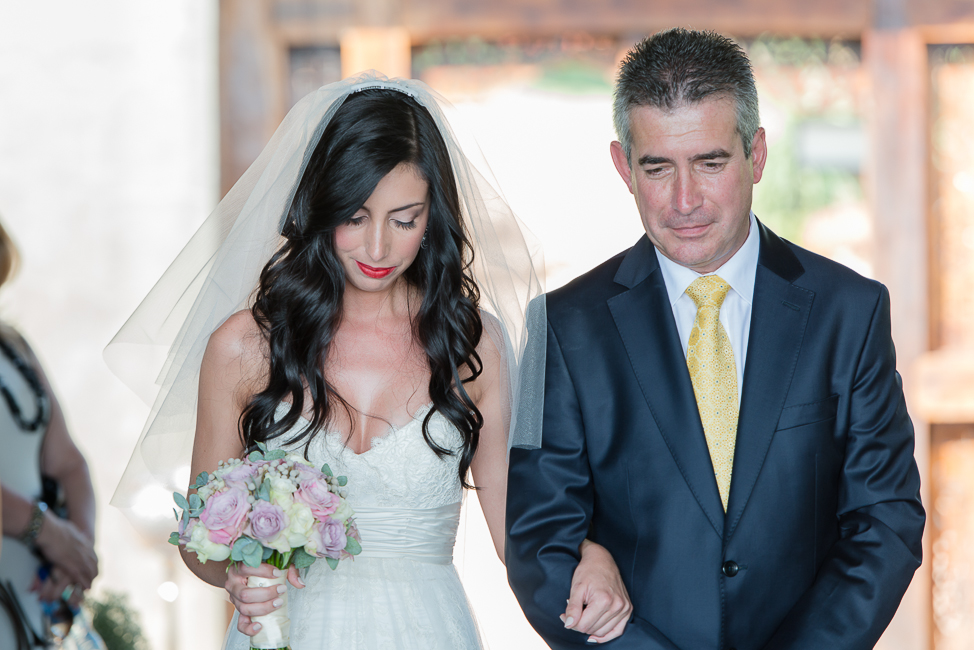 Down the Aisle with Dad | Dusty Pink & Violet Wedding at the Red Ivory Lodge by Lightburst Photography - As seen on ConfettiDaydreams.com
