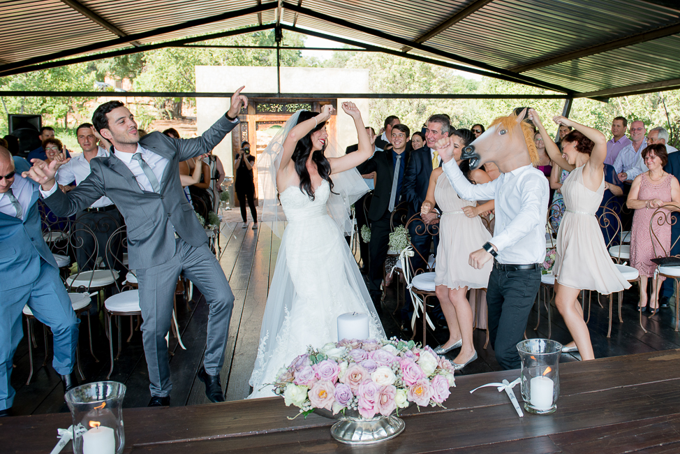 This fun couple had guests do the Harlem Shake after their first kiss! | Dusty Pink & Violet Wedding at the Red Ivory Lodge by Lightburst Photography - As seen on ConfettiDaydreams.com