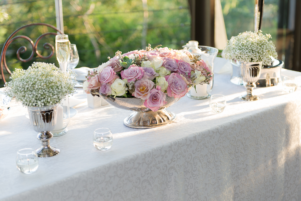 Dusty Pink & Violet Flowers and Decor | Images by Lightburst Photography - As seen on ConfettiDaydreams.com
