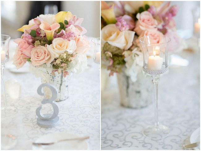 Gorgeous Fl Centerpiece Decor Peach And Blush Autumn Wedding At The Tupper Manor
