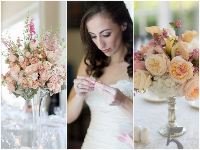 Exquisite, Flower-Filled Peach & Blush Fall Wedding at Tupper Manor {Kristen Jane Photography}