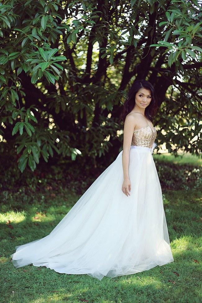 Sequin Glitter Wedding Dresses 1