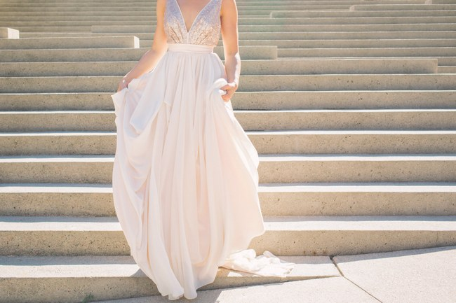 Sequin Glitter Wedding Dresses 11