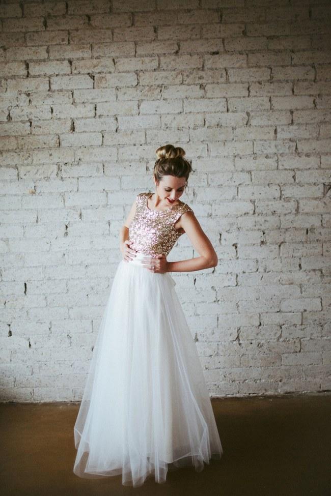 Sequin Glitter Wedding Dresses 12