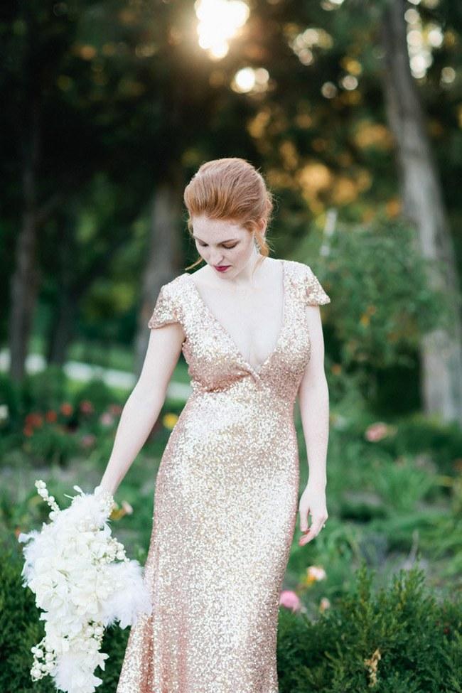 Sequin Glitter Wedding Dresses 14