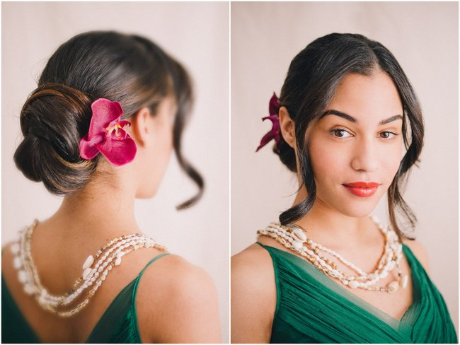 Tropical Beach Wedding Updo  Hairstyles