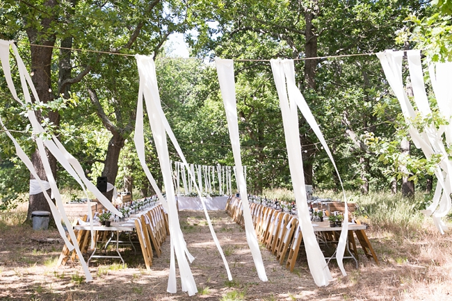 Eco Friendly Wedding Decor:: Outdoor Forest Wedding :: Ruby Jean Photography :: See more on Confetti Daydreams Wedding Blog